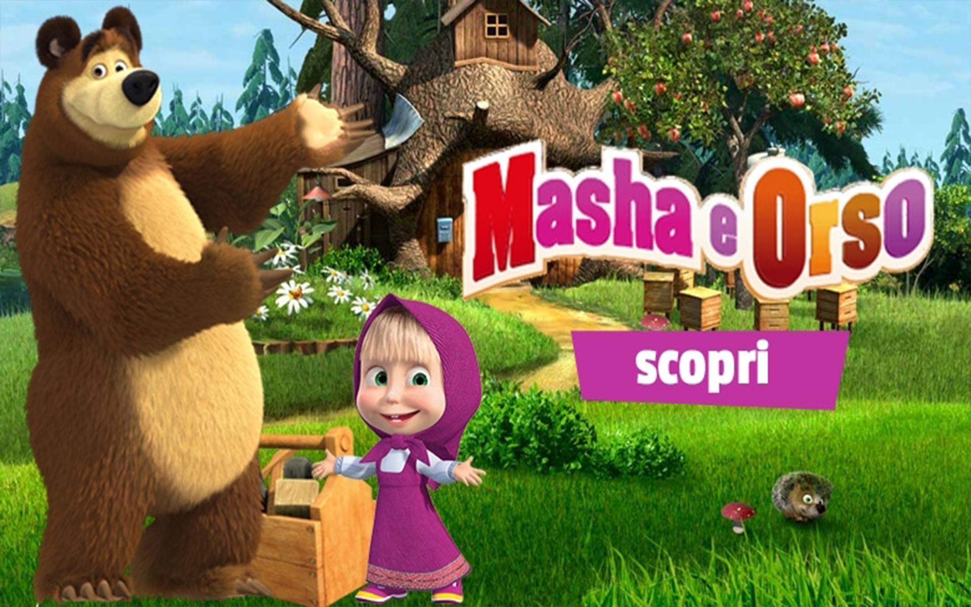 Masha e orso slider il quadrifoglioweb