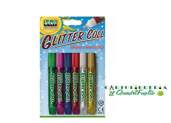 Colla Glitter tubetto ml.10,5 colori assortiti Cf.6