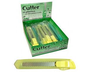 Cutter in plastica con bloccalama a scatto mm.18