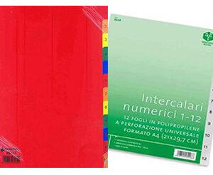 Intercalari Separatori numerici 1-12 in PPL