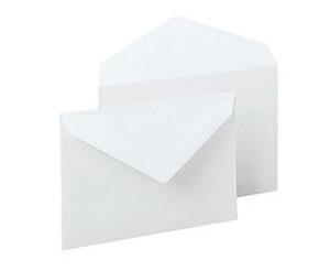 Biglietto e busta bianca cm.9x14 CF.100