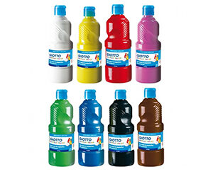 Tempera acrilica flacone 500 ml