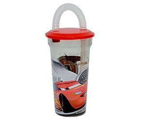 Bicchiere con cannuccia Cars