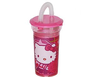 Hello Kitty Bicchiere con Cannuccia