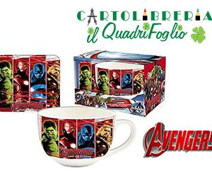 Tazza In Ceramica Avengers Con Sottobicchiere