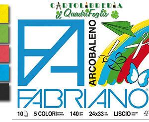 Album Fabriano Arcobaleno Liscio cm.24x33 Fg.10
