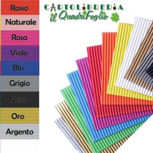 Cartoncino Ondulato Colorato Cm. 50x70