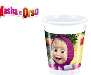 Masha e Orso Bicchieri Festa compleanno Pz.8