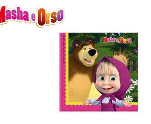 Masha e Orso Tovaglioli Festa Compleanno Pz.20