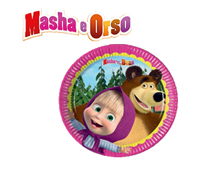 Masha e Orso piatti grandi per festa compleanno Pz.8