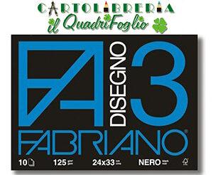 Album Fabriano 3 Nero cm.24x33 Fg.10