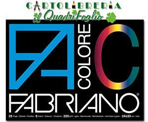 Album Fabriano Color Monoruvido cm.24x33 Fg.25