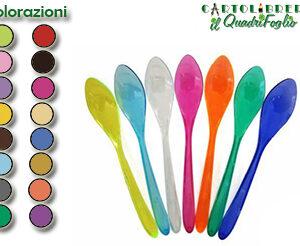 Color Cucchiaini Monocolore Plastica
