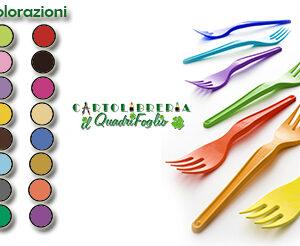 Color Forchette Monocolore Plastica