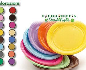 Color Piatti Monocolore Plastica