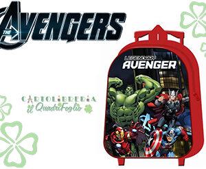 Zaino Asilo Scuola Trolley Avengers