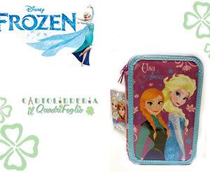 Astuccio portacolori 3 zip Frozen