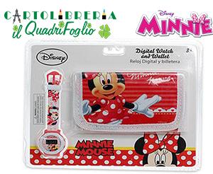 Orologio + Portafoglio Minnie Mouse