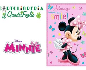 Minnie Mouse Coperta Plaid in poliestere cm.100x150