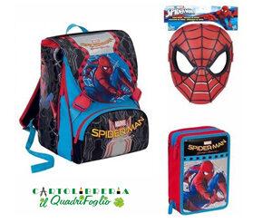 Spiderman Home Coming Zaino Estensibile con Astuccio 3 zip e Gadget