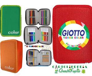 Astuccio 3 zip portacolori scuola Giotto