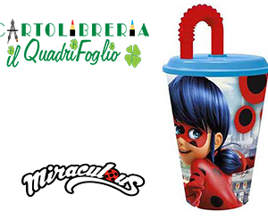 Bicchiere Con Cannuccia Miraculous Ladybag