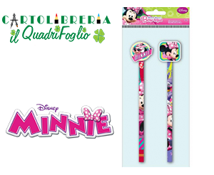 Matite Pz. 2 Con Gomma Minnie Mouse Bow-tique