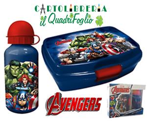 Portamerenda + Borraccia in Alluminio Avengers