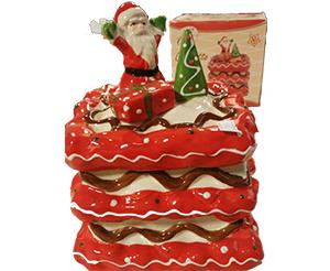 Cofanetto Natalizio Torta in ceramica