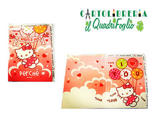 Biglietto auguri I Love you Hello Kitty