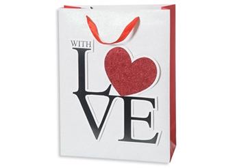 Busta con manico With Love cm.18x23x10