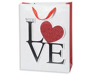 Busta con manico With Love cm.26x32x12