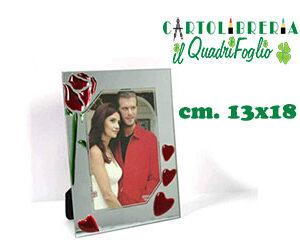 Cornice portafoto da tavolo Love in vetro CM.13X18