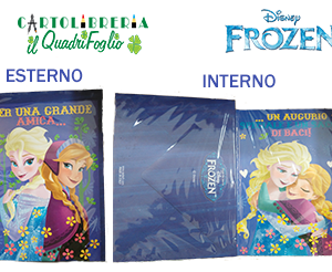 Biglietto Auguri Frozen Elsa e Anna