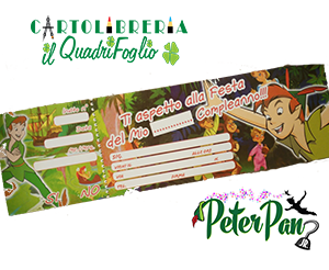 Carnet Inviti Festa Peter Pan