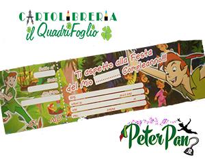 Carnet Blocchetto Inviti Festa Compleanno Peter Pan