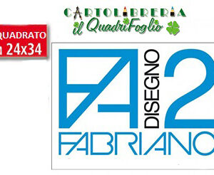 Album Fabriano 2 Riquadrato Liscio cm.24x33 Fg.20
