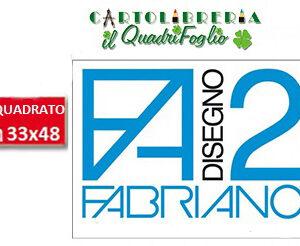 Album Fabriano 2 Riquadrato Liscio cm.33x48 Fg.20
