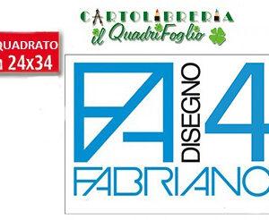 Album Fabriano 4 Riquadrato Liscio cm.24x33 Fg.20