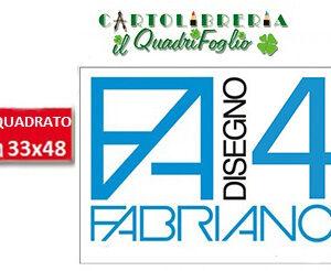 Album Fabriano 4 Riquadrato Liscio cm.33x48 Fg.20