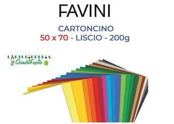 Cartoncini colorati Favini cm.50x70 gr.200 Cf.25