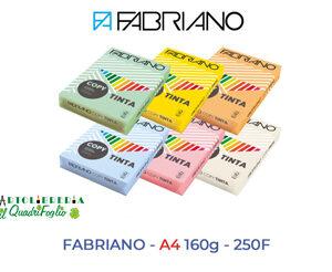 Cartoncino colorato Fabriano A4 gr.160 Fg.250