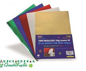 Carta Metallizzata A4 gr.100 Cf.10 colori assortiti