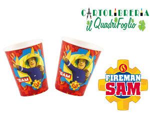 Bicchieri festa compleanno Sam il Pompiere Pz.8