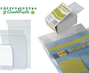Buste Soft ad U trasparenti lisce 5,4x8,6 Cf.100
