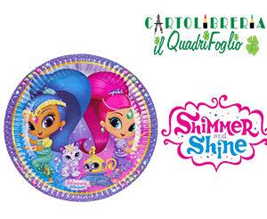 Piatti grandi festa compleanno Shimmer e Shine Pz.8