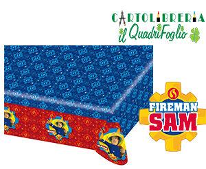 Tovaglia compleanno Sam il Pompiere cm.120x180