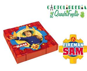 Tovaglioli festa compleanno Sam il Pompiere Pz.20