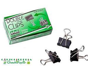 Molle fermacarte double clips 19mm Cf.12