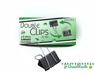 Molle fermacarte double clips 32mm Cf.12